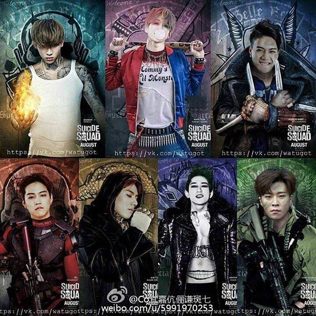 got7 as suicide squad characters!! Bambam should be Harley Quinn tho
