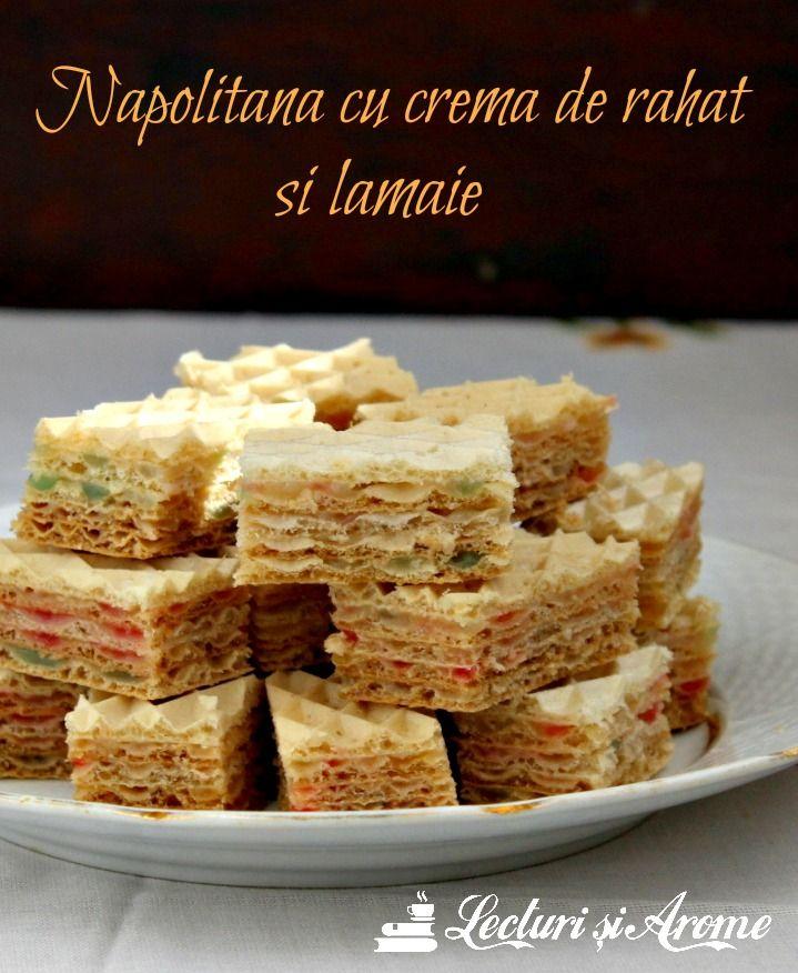 Napolitane cu crema de rahat si lamaie
