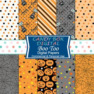 These 10 fun Halloween digital background papers are a lively addition to your…