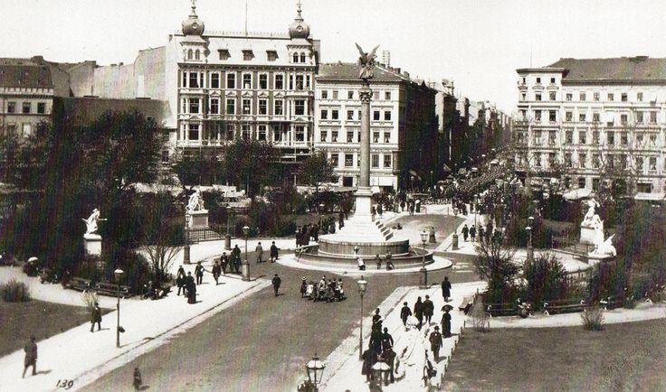 1887 Berlin - Belle-Alliance-Platz (heute Mehringplatz) (Foto: Friedrich Albert Schwartz).