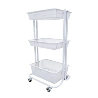 Luxor Kitchen Utility Cart in White | Overstock.com Shopping - The Best Deals on Kitchen Carts