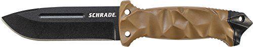 Schrade SCHF40D Three Quarter Tang Drop Point Fixed Blade...
