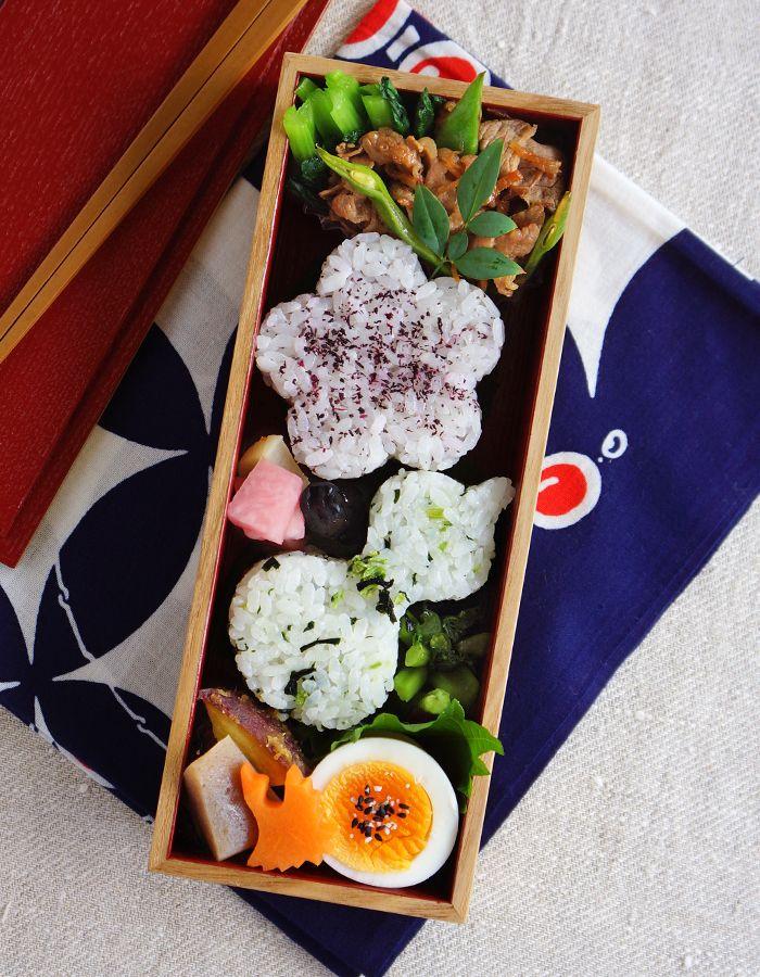 Japanese Bento/2種類のおにぎり、野菜の炊き合わせ、ゆで卵