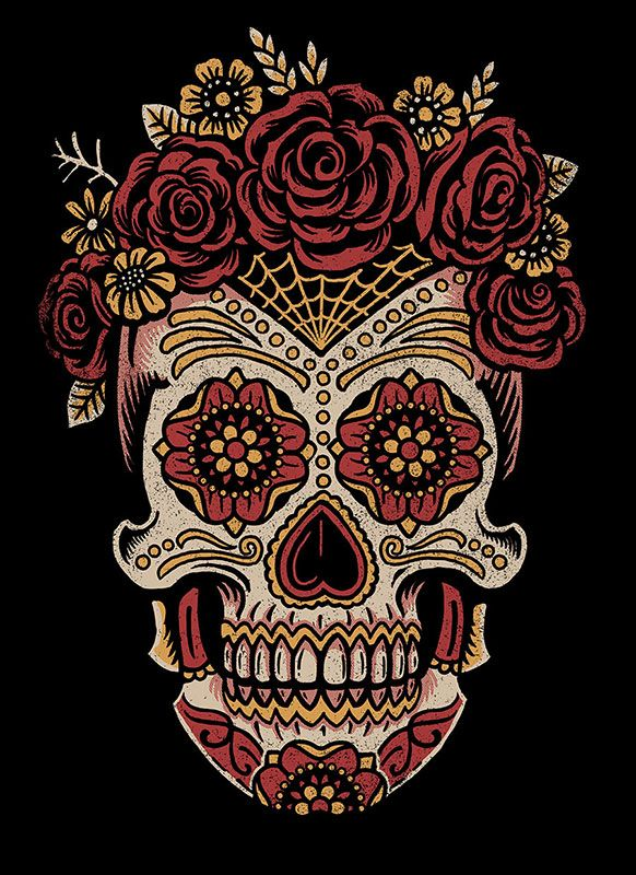 Saint Añejo - Female sugar skull  by Derrick Castle