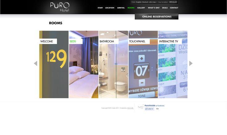 Web Design for PURO Hotel