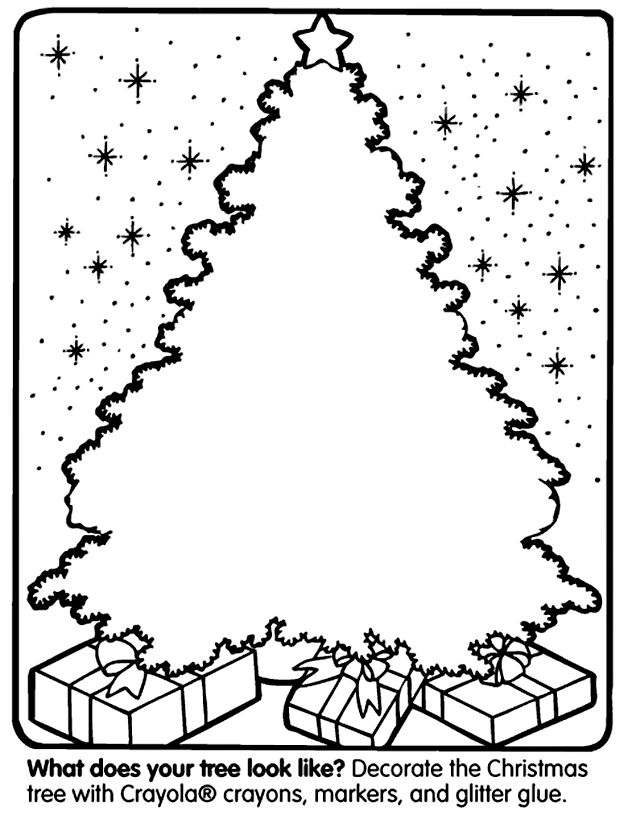Christmas Tree Coloring Page - Re-pinned by @PediaStaff – Please Visit http://ht.ly/63sNt for all our pediatric therapy pins