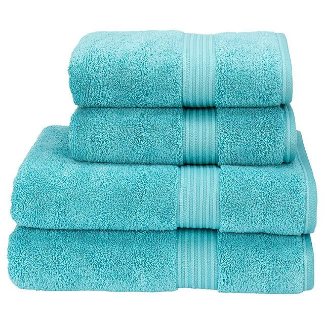 Mum towels in a Tiffany blue BuyChristy Supreme Hygro Face Cloth, Lagoon Online at johnlewis.com