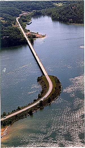 The bridge we cross on Beaver Lake on our way to Rock Branch!
