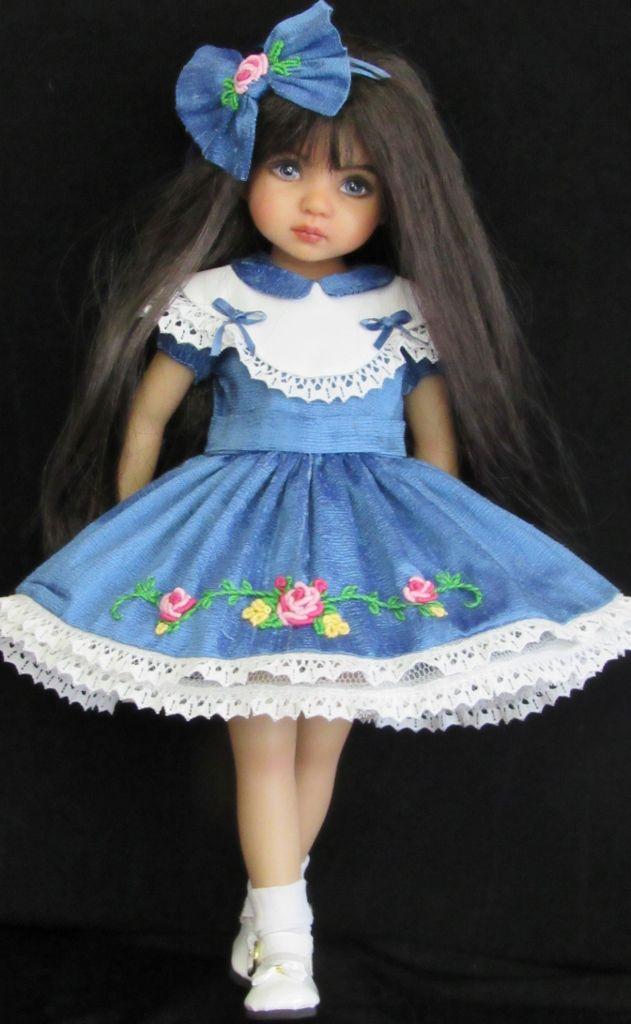 """vintage style dress set made for effner little darling 13"""" dolls"""