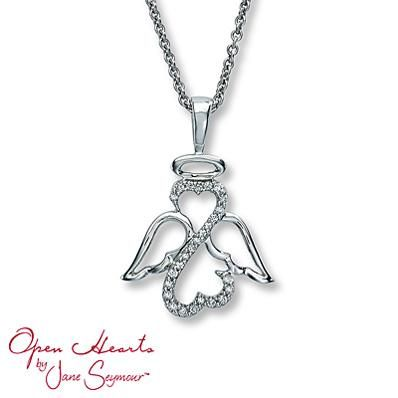 An Open Hearts by Jane Seymour angel necklace is a special way to keep your loved ones close to your heart on your wedding day.