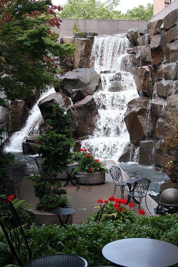 Best 25 garden waterfall ideas on pinterest diy for Urban waterfall design