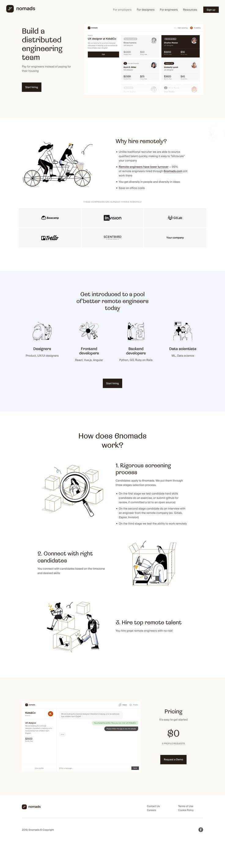 6nomads landing page design inspiration – Lapa Ninja