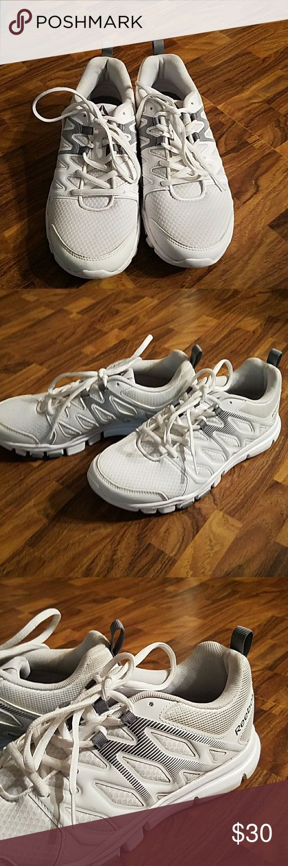 Reebok Shoes White Silver and Black. Only been worn two times. Reebok Shoes Sneakers