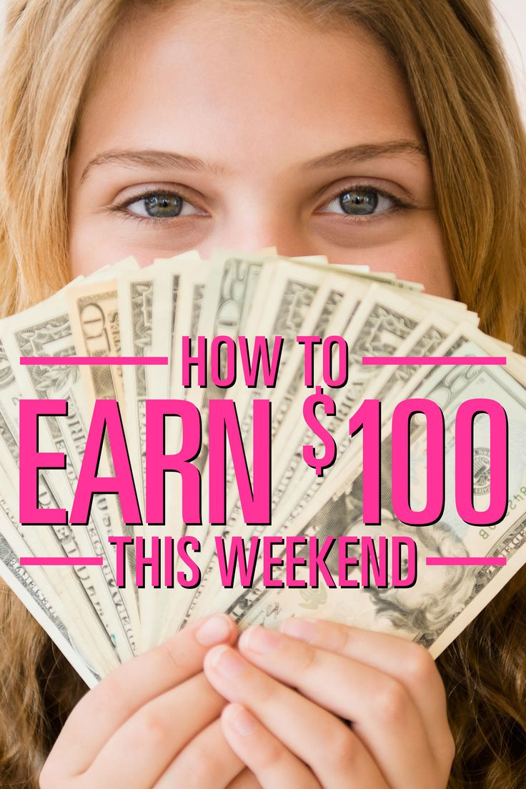 How To Earn 100 This Weekend! How to raise money