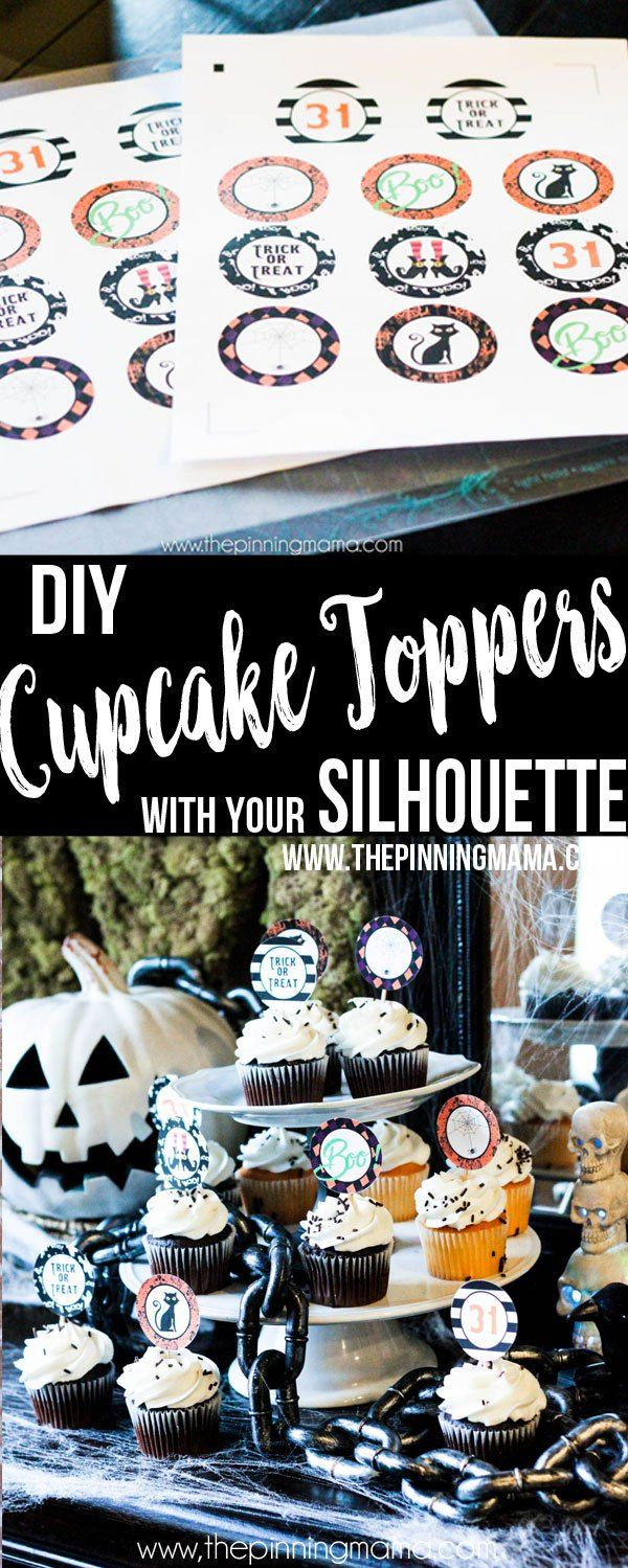 How to Make Custom Cupcake Toppers with the Silhouette CAMEO | kimberdawnco.com | Bloglovin'