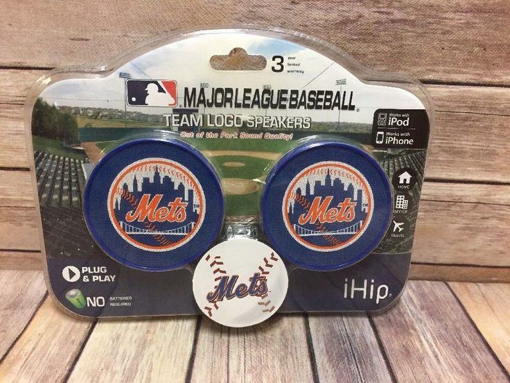 iHip MLB New York Mets Team Logo Speaker for iPod iPhone | Consumer Electronics, Portable Audio & Headphones, iPod, Audio Player Accessories | eBay!