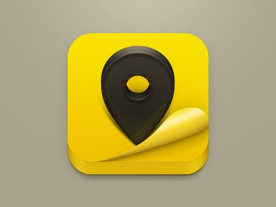 Dribbble - Yellow Pages iOS Icon by Valik Boyev