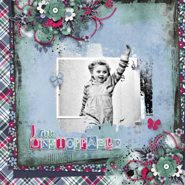 Kit Unstoppable by Jumpstart Designs. Templates Flower Power Freebie and Fabulous Frames#1 by Heartstrings Scrap Art. Photo per kind favbour of Marta Everest Photography.