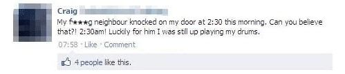 Seriously, how rude, knocking on someone's door at 2:30 a.m.
