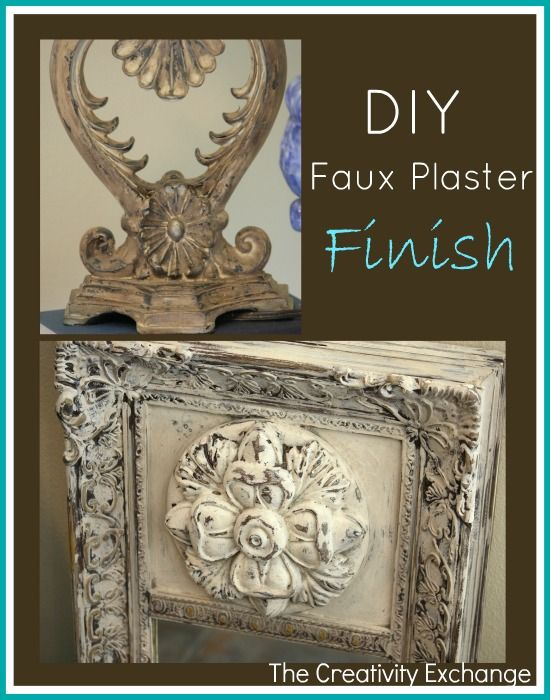 Tutorial for DIY Faux Plaster Paint Finish for Trash to Treasure Projects- The Creativity Exchange