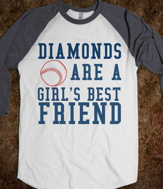 Diamonds are a Girl's Best Friend Baseball tee - Cranberry Designs - Skreened T-shirts, Organic Shirts, Hoodies, Kids Tees, Baby One-Pieces and Tote Bags Custom T-Shirts, Organic Shirts, Hoodies, Novelty Gifts, Kids Apparel, Baby One-Pieces | Skreened - Ethical Custom Apparel