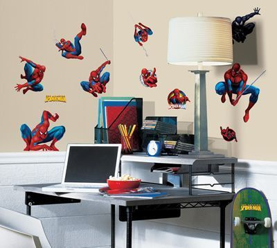 New Set Of Amazing Spiderman Wall Stickers Spider Man Decals Bedroom  Decorations
