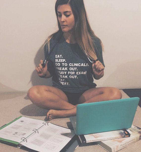 Funny Nursing Student Tee/ Tank / Sweatshirt - Women's Graphic T-Shirt/ Razor Back Tank/ Crewneck