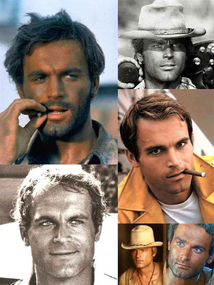 Terence Hill - (from the Trinity films) when I was young, he was my dream man :)