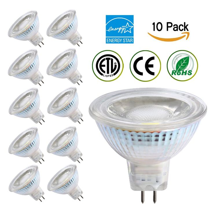 Energy-SL MR16 LED bulbs,5W (50W Equivalent) Dimmable Bulbs,4200K (Warm White),36 Degree Beam Angle,CRI 80+,450 Lumen,ETL-Listed and ENERGY STAR Qualified,Pack of 10
