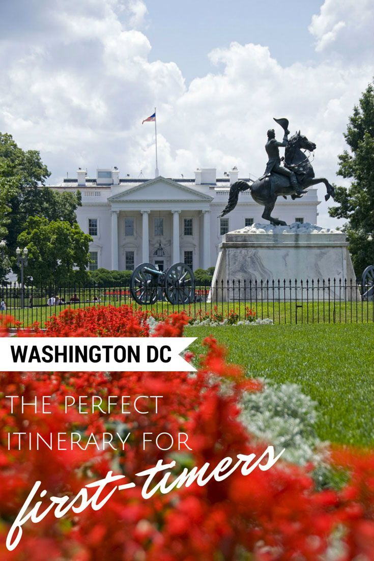What to do in Washington DC - The perfect itinerary and travel guide for a trip to DC! This is a photo in front of the White House.