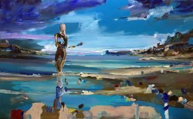 "Saatchi Art Artist OSCAR ALVAREZ; Painting, ""S-Blue dream 4"" #art"