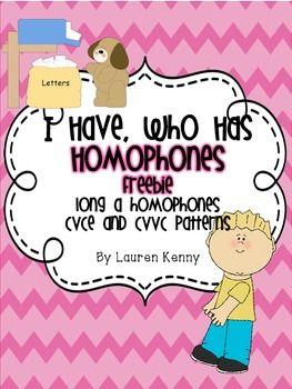 *FREEBIE* I Have, Who Has-Homophones  @Kathleen S S Eubanks @Christine Ballisty Ballisty Horn