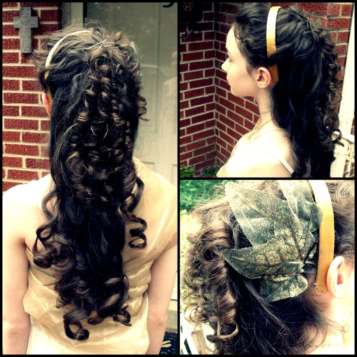 hair for Athena costume