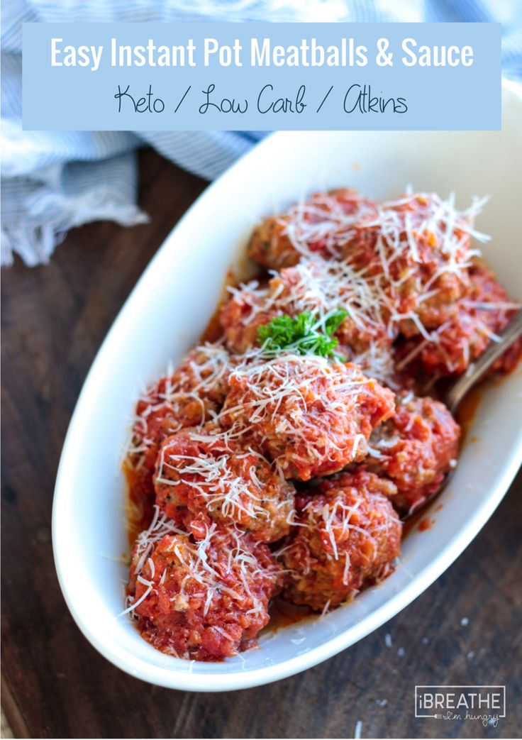 Easy Instant Pot Meatballs and Sauce - Low Carb and Gluten Free