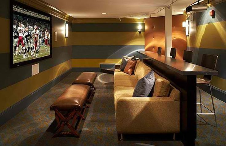 Theater Seating With Bar Seating Behind The Sofa Home