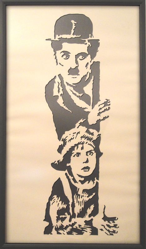 Chaplin papercut by kadifecraft on deviantART