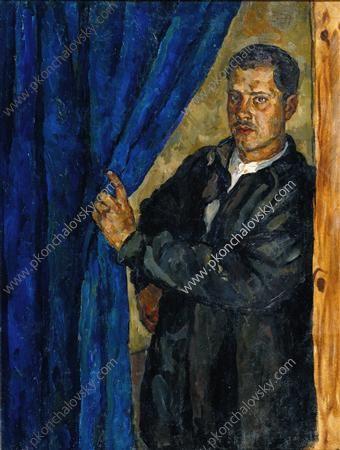Portrait of Pyotr Konchalovsky, the son of the artist, 1926  Pyotr Konchalovsky