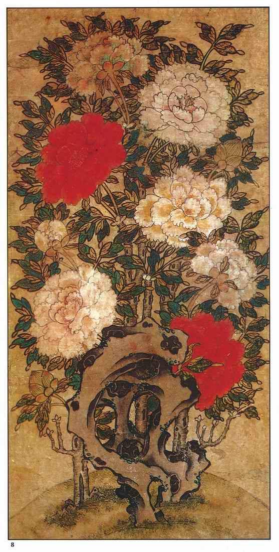 朝鮮民画(6)「花鳥図-牡丹図」