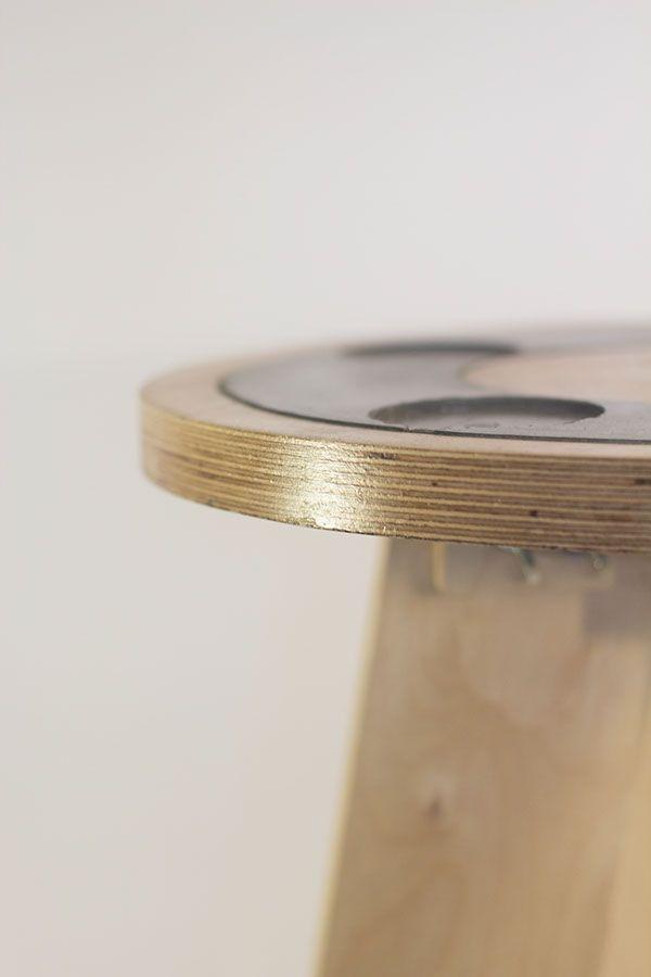 Concrete : Side Table  by Liam Richards, via Behance