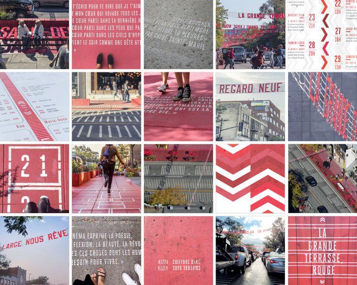 """Résultat de recherche d'images pour """"montreal amenagement rue rouge"""""""