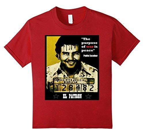 Kingpin Pablo Escobar T-shirt - War is peace - Kids 8 - Cranberry