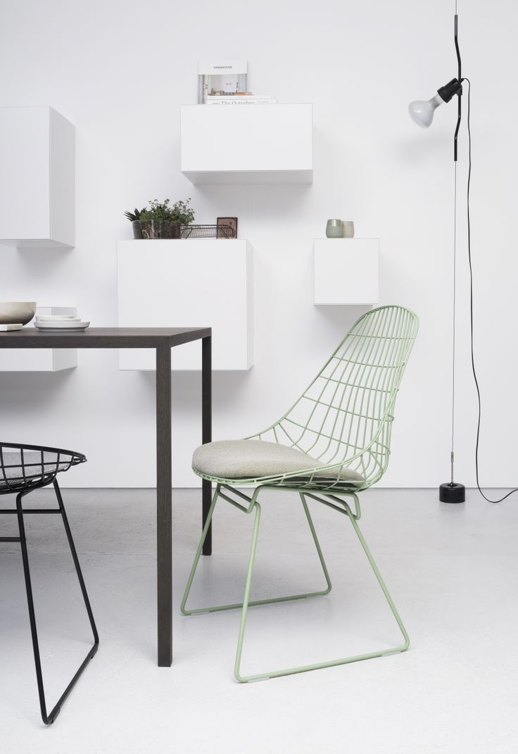 This wire chair was designed just after the Second World War came to an end, as steel was one of the cheapest and strongest materials available to make furniture.