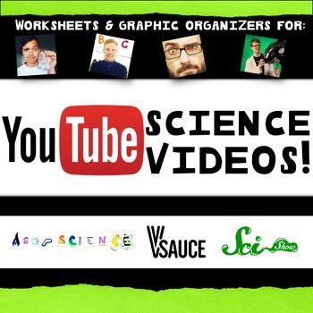 My students LOVE ASAP Science, V-Sauce and the Sci Show! These templates…