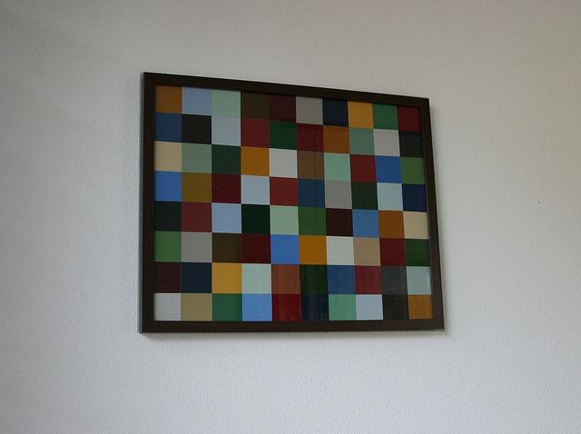 DIY Paint chip wall art - verf kleurstalen kaartjes 1 by Helena C. from Holland, via Flickr