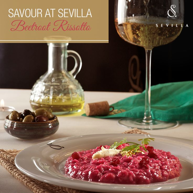 Don't miss out on the gastronomical journey with our exclusively crafted Beetroot Risotto at #Sevilla.