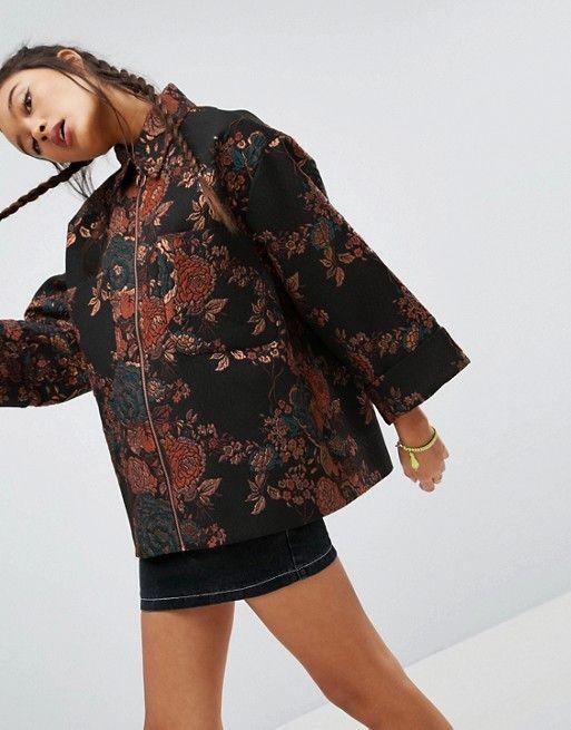 ASOS Kimono Jacket in Jacquard