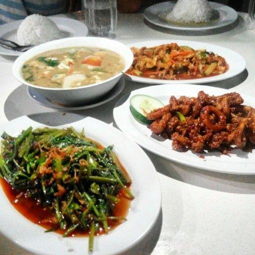 Sotong Sambel Kangkung Belacan Sup Telur Ikan Asam Manis