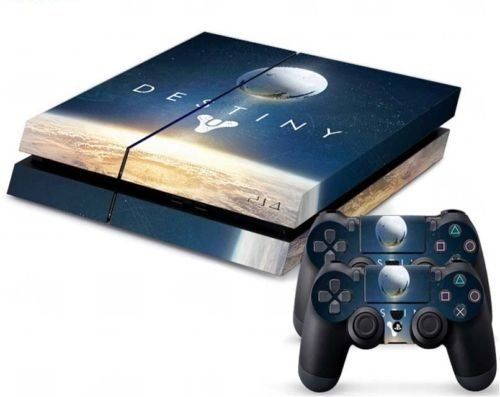 MightySticker® PS4 Designer Skin Game Console + 2 Controller Decal Vinyl Protective Covers Stickers for Sony PlayStation 4 - Destiny the Taken King Legendary Out of Space Edition