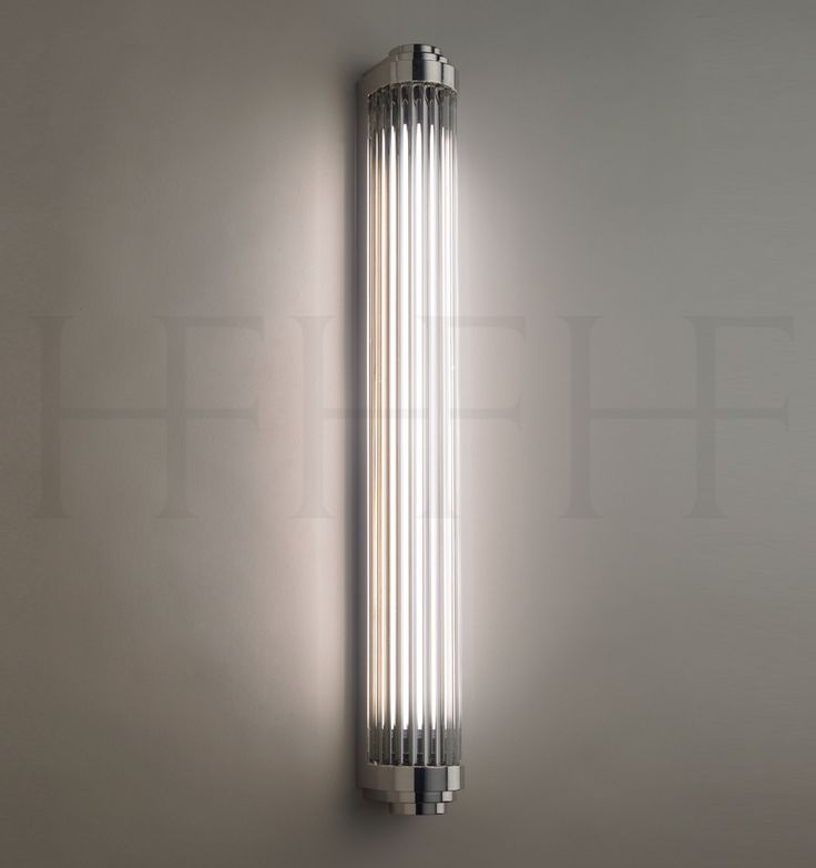 Bathroom Sconce - Comes in Brass as well. Rod Pillar Light, large