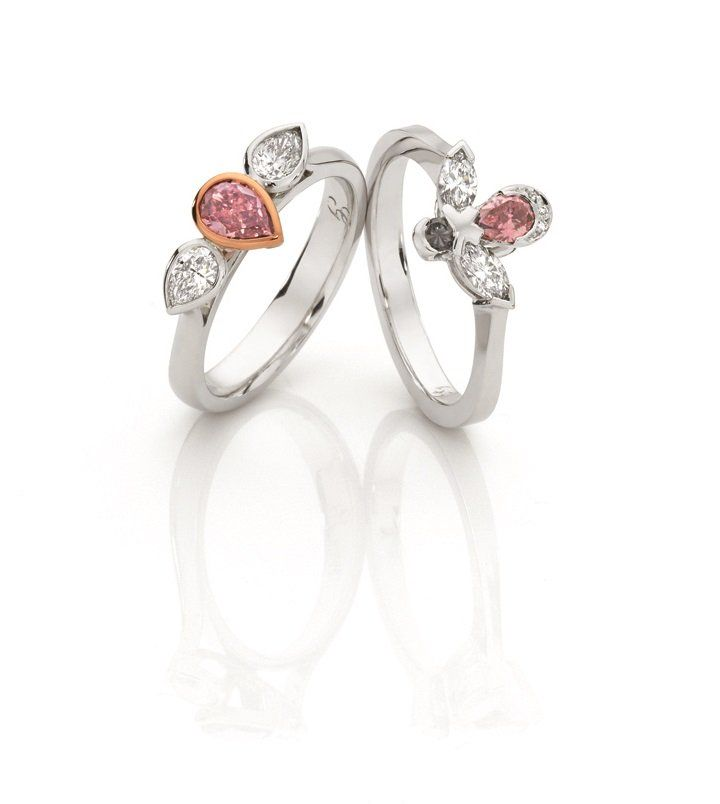 Australian pink diamond rings from Giulians Sydney.   (@Giulians_Gems)   Twitter